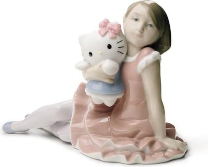 Статуэтка фарфоровая Играя с HELLO KITTY! (Playing With Hello Kitty) 15см NAO 02001664