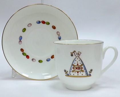 Чашка с блюдцем чайная Кулич и Пасха, ф. Ландыш ИФЗ 81.23094.00.1