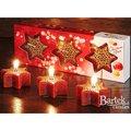 "Bartek Candles CHRISTMAS STAR Свеча ""Звезда со снежинкой"" - вариант Б, 60х25мм, 3 шт. , артикул 5907602669534"