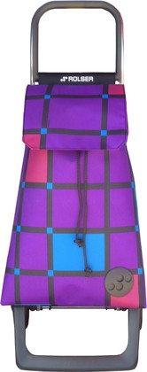 Сумка-тележка хозяйственная фиолетовая ROLSER Joy-1800 BAB009more