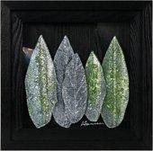 Картина стеклянная Листья Арбор Мунди 40x40см Top Art Studio LG1229-TA