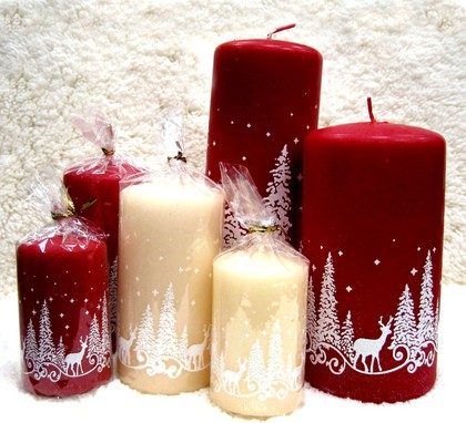 "Свеча ""Зимняя сказка"", колонна 7х20см Bartek Candles 306013"