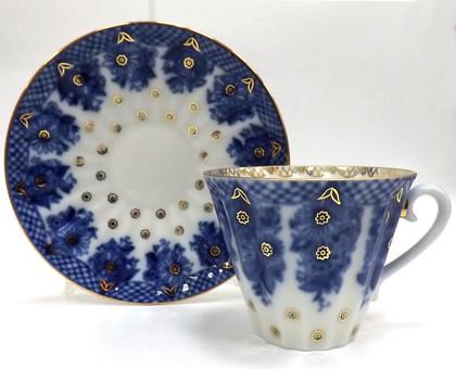 Чашка с блюдцем Корзиночка, ф. Лучистая ИФЗ 81.10303.00.1