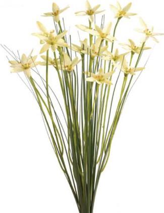"""Цветок искусственный """"Цветочные звёзды в траве"""" . жёлтые Floralsilk 11648Y"""