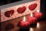 """Свеча """"Любовь навсегда"""" сердце 5cм, 3шт. Bartek Candles 5907602667066"""