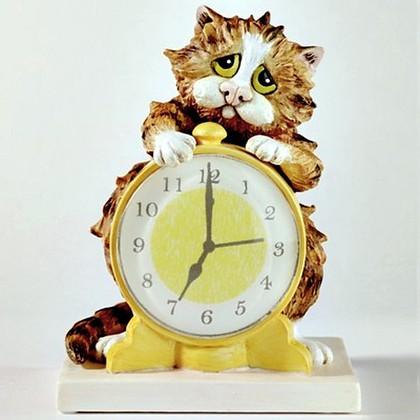 "Enesco - Comic & Curious Cats - ""Утренний звонок"" (Morning call), высота 10см, артикул A22916"