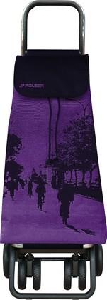 Сумка-тележка хозяйственная фиолетово-чёрная Rolser LOGIC TOUR PAC072malva