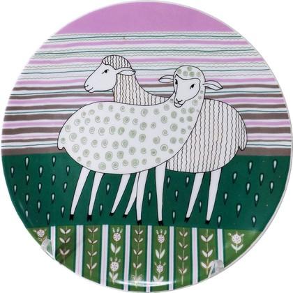 Тарелка декоративная Весёлые овечки. Дружба!, ф. Эллипс ИФЗ 80.80128.00.1
