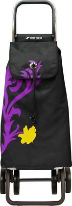 Сумка-тележка хозяйственная фиолетово-чёрная Rolser LOGIC DOS+2 PAC068malva