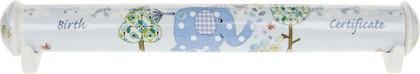 Тубус для свидетельства о рождении для мальчика Слонёнок Элли и птичка 27см Leonardo Collection LP33112