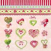 Салфетки для декупажа Романтика, 33x33см, 3 слоя, 20шт Paper+Design LN0818