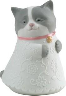 Статуэтка фарфоровая Котёнок розовый (Little Kitty) 9см NAO 02005078
