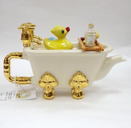 Чайник коллекционный Ванна мини (ванна с утёнком) The Teapottery 4411