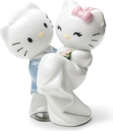 Статуэтка фарфоровая Новобрачные HELLO KITTY! (Hello KItty Gets Married!) 11см NAO 02001662