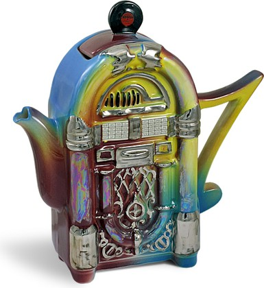 "Чайник заварочный ""Чайный дискобармен"" (музыкальный аппарат Jukebox) The Teapottery 4435"