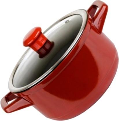 Ceraflame DUO Кастрюля со стеклянной крышкой, диаметр 22см, 3,2л, красная, артикул C99316422