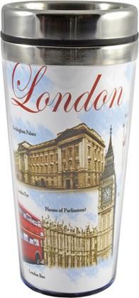 Кружка с собой Достопримечательности Лондона, 1 Sterling Products FSK006