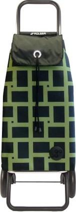 Сумка-тележка хозяйственная зеленая ROLSER Convert RG IMX025verde