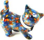 Копилка Кошка KITTY синяя с бабочками Pomme-Pidou 148-00021/4