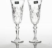 "Фужеры 6шт ""Лаура"" /ветренник/ шампанское 150мл Crystalite Bohemia 1KC65/0/88327/150"