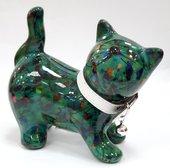 Копилка Кошка KITTY зелёная в птичках Pomme-Pidou 148-00021/1