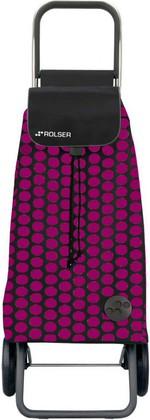 Сумка-тележка хозяйственная фуксия с чёрным Rolser LOGIC RG PAC011fucsia/negro