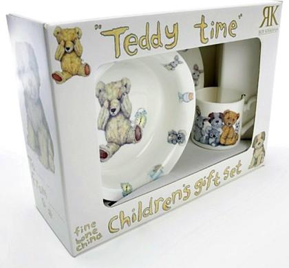 "Набор посуды для мальчика ""Время с Тедди"", 3пр. Roy Kirkham XTED1393"