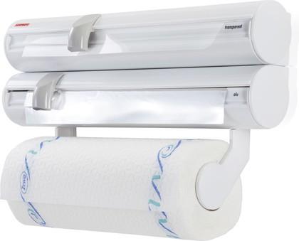 Настенный рулонодержатель плёнки, фольги и полотенец Leifheit Rolly Mobil 25795