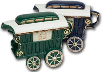 "Чайник заварочный ""Чайный экипаж"" мини (повозка на колесах) The Teapottery 4485"