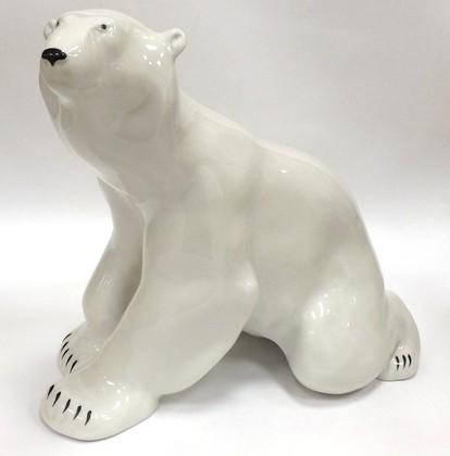 Статуэтка Медведь сидит, 26.5см, фарфор ИФЗ 82.00977.00.1