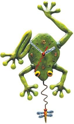 """Enesco - Allen Designs Studio - настенные часы """"Глаза в глаза"""" (Frog Fly), высота 34см, артикул C106"""