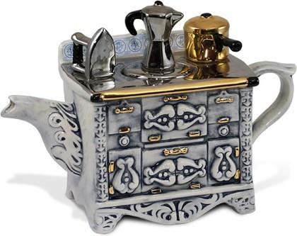 """Чайник заварочный """"Французский завтрак"""" (стол, утюг, кофейник, кастрюля) мини The Teapottery 4427"""