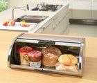 Хлебница из матовой стали Brabantia Storage Touch Bin 397066