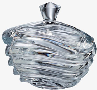 Конфетница с крышкой Волна 17см Crystalite Bohemia 5K937/1/99U29/170