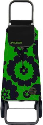 Сумка-тележка хозяйственная зелёно-чёрная Rolser LOGIC RG PAC012verde/negro