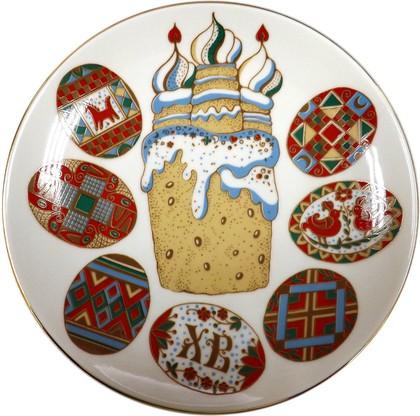 Тарелка декоративная Писанки, ф. Эллипс ИФЗ 80.51061.00.1