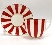 Чашка с блюдцем «Да и нет» (красный), ф. Ландыш 81.15701.00.1