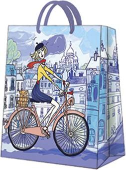 Пакет подарочный Парижский день 20x25x10см Paw AGB1001103