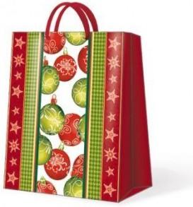 Пакет подарочный Новогоднее настроение 30х12х41 см Paw AGB013002