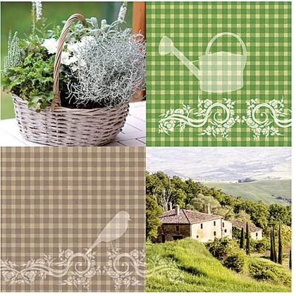 Салфетки для декупажа Загородный дом, 33x33см, 3 слоя, 20шт Paper+Design 21724