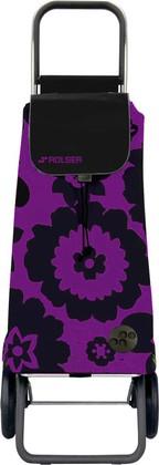 Сумка-тележка хозяйственная фиолетово-чёрная Rolser LOGIC RG PAC012lila/negro