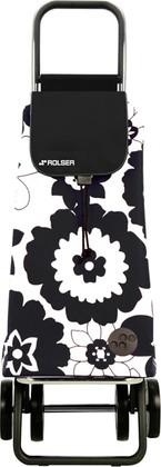 Сумка-тележка хозяйственная чёрная с белым Rolser DOS+2 MOU056blanco/negro