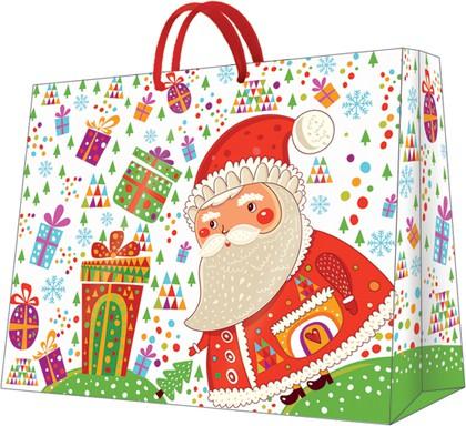 "Пакет подарочный ""Санта с подарками"" 26.5x33.5x13см Paw AGB028205"