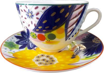 Чашка с блюдцем Юля, ф. Весенняя-2 ИФЗ 81.23850.00.1