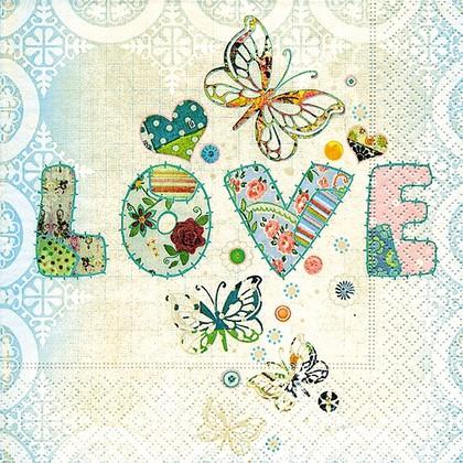 Салфетки для декупажа Любовь навсегда, 33x33см, 3 слоя, 20шт Paper+Design 21784