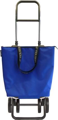 Сумка-тележка хозяйственная синяя Rolser LOGIC DOS+2 MINI BAG MNB017azul