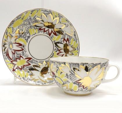 Чашка с блюдцем Золотые ромашки, ф. Тюльпан ИФЗ 81.14667.00.1