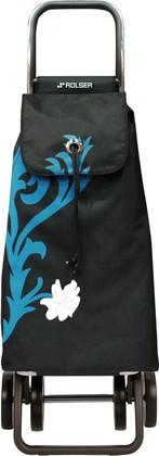 Сумка-тележка хозяйственная сине-чёрная Rolser LOGIC DOS+2 PAC068turquesa