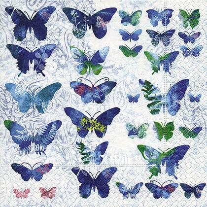 Салфетки для декупажа Волшебные бабочки, 33x33см, 3 слоя, 20шт Paper+Design 21787