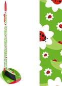 Совок, щётка с ручкой Vigar Ladybug 3378